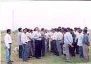 Wind farm visit at Edayarpalayam on 8th Nov 2003
